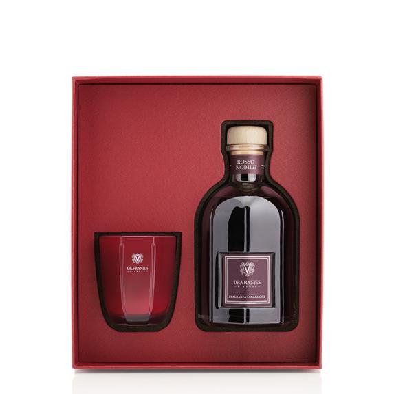 dr vranjes rosso nobile gift box 250ml candela tormalina 80gr frv20 m16