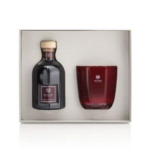dr vranjes rosso nobile gift box 500ml candela tormalina 500gr frv19 b16am