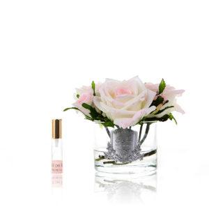 Five Rose Blush Clear Glass
