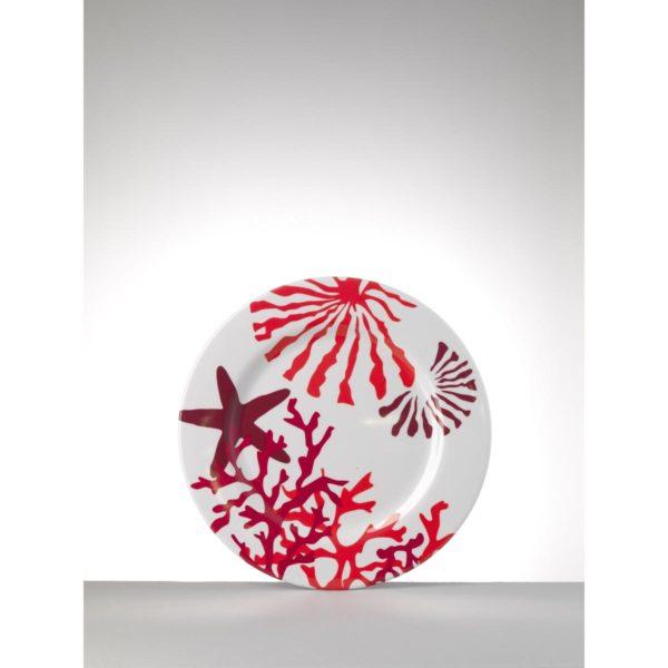 mario luca giusti piatto medio corallo rosso h pia cora7
