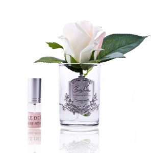 rose bud blush clear glass GMR42