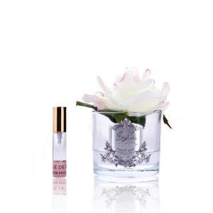 single rose blush clear glass GMR02
